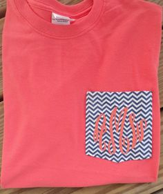 I am gonna do this for me and my sister....I think its cute.  Not sure what she will think.  LOL Monogrammed Personalized FABRIC Pocket T by southernmonograms, $24.99