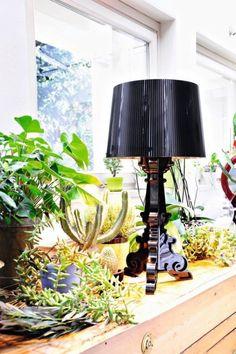 black bourgie lamp