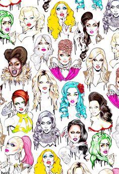 drag queen wallpaper - Google Search
