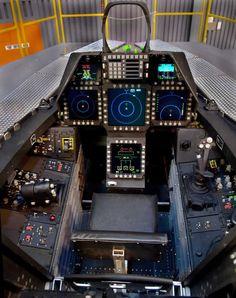F-22 Raptor Air Force Jet Cockpit Photo
