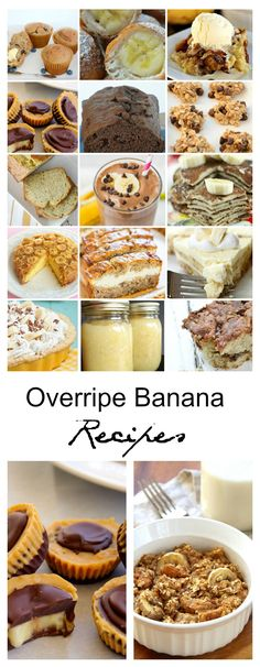 Recipes | Do you have some bananas on your counter that are just waiting to be used. Don't let them go to waste, check out this list of Overripe Banana Recipes.