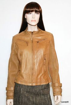 Bagatelle Lambskin Leather Jacket Coat Brown M | eBay