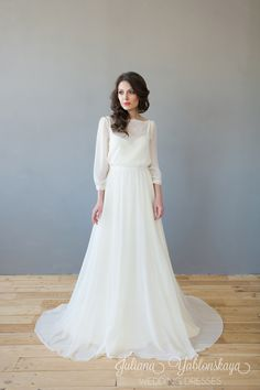 New diy wedding boho brides ideas Modest Wedding Dresses, Elegant Wedding Dress, Elegant Dresses, Bridal Dresses, Wedding Gowns, Dresses Dresses, Diy Wedding, Estilo Boho, Vintage Bridal