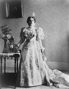 Ida Saxton McKinley. Married to William McKinley, in office 1897-1901. First Lady Ida Saxton McKinley (June 8, 1847 – May 26, 1907), wife of William McKinley, was First Lady of the United States from 1897 to 1901. 25th #President of the United States 26th #FirstLady