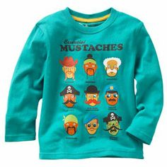 Jumping Beans Essential Mustaches Tee - Toddler