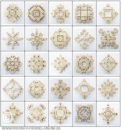 Schönheitsformen (forms of beauty) mit den Bauklötzen der Spielgabe 5B