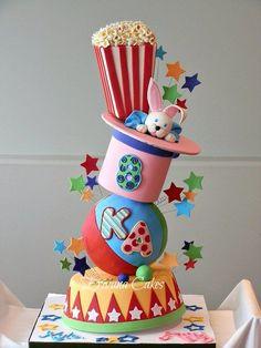 Topsy Turvy Carnival Themed Cake