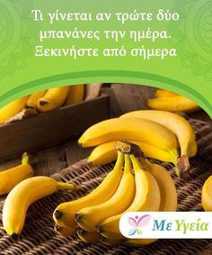 Τι γίνεται αν τρώτε δύο μπανάνες την ημέρα. Ξεκινήστε από σήμερα Τι γίνεται αν τρώτε δύο μπανάνες την ημέρα; Εκτός από την υπέροχη γεύση τους, οι μπανάνες είναι επίσης πολύ καλές για την υγεία σας. Εάν δεν το πιστεύετε. Reflexology Massage, Smoothies, Banana, Healthy Recipes, Fruit, Stress, Tips, Food, Diets