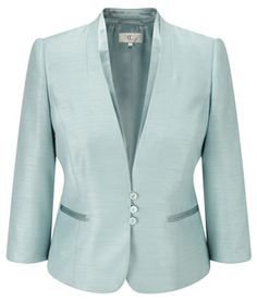 Sea Foam Satin Trim Shantung Jacket http://www.weddingheart.co.uk/cc---mother-of-the-bride-dresses.html