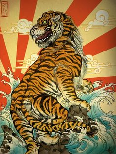 Japanese art Tigers and Art on Pinterest