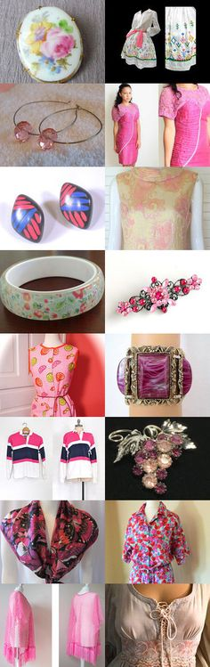 In the Pink Vintage Team Love Daily Treasury by Tracy B on Etsy--Pinned+with+TreasuryPin.com
