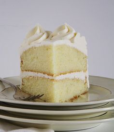 Ultimate Vanilla Cake Recipe based on the Ultimate Vanilla Cupcakes (guest post from @Amanda Snelson Rettke).