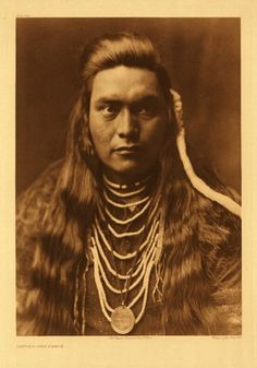 Sawyer, Nez Percé, photographed in 1905 by Edward S. Curtis. (Original)