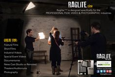 RagLite Cine.   If you work in the film, video, or photographic industry then the Raglite Cine is for you! Color temperature correct. Available in 3200K Tungsten, 5600K Daylight and RGB! For more information please visit   https://www.indiegogo.com/projects/raglite-world-s-most-versatile-light/x/8875415
