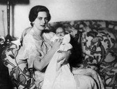 Princess Ileana Of Romania with her daughter, Archduchess Alexandra Of Austria-Tuscany