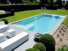 Les plus belles piscines LPW Ceramic Pools — LPW Ceramic Pools Pool House Designs, Swimming Pool Designs, Swimming Pools, Small Backyard Pools, Small Pools, Rectangular Pool, Luxury Pools, Dream Pools, House Landscape
