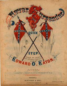 Civil War sheet music, Confederate