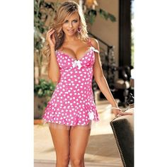 SEXY Pink HEARTS MESH SLIP BACK OUT BIKINI CHEMISE DRESS COSTUME L NEW Hollywood #SHIRLEYOFHOLLYWOOD #CHEMISESLIP #Clubwear