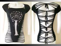 """Juniores / donna nero superiore """"Star Goddess"""" speciale taglio serie camicia con strass, formato piccolo, medio, grande, XL, 2xl, 3xl tagliu..."""