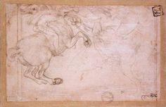 A Horseman in Combat with a Griffin - Leonardo da Vinci