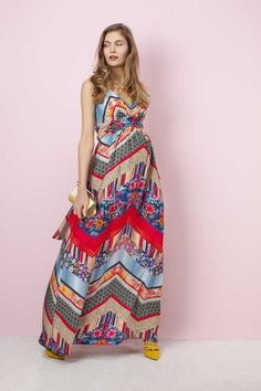 0fa2e74beb2ab Robe longue de grossesse habillée imprimée Patchwork - Pietro Brunelli  Milano - Taylorbox