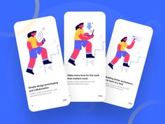 Onboarding Screen Exploration by Imran Molla Application Design, Mobile Application, Flow Design, App Design Inspiration, Types Of Buttons, Time Design, Mobile App Design, Job Opening, User Interface