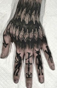 What's your favorite from 👇 ➖➖➖➖➖➖➖ Hand Tattoos, Two Hands Tattoo, Knuckle Tattoos, Finger Tattoos, Sleeve Tattoos, Tatoos, Punk Tattoo, Diy Tattoo, Blackout Tattoo