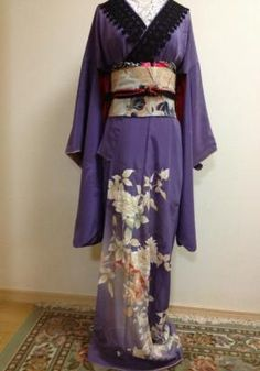 She Wore Purple Today Kimono Japan, Japanese Kimono, Vintage Outfits, Vintage Fashion, Elegant Dresses For Women, Cool Outfits, Fashion Outfits, Character Outfits, Kimonos