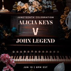 @verzuztv is coming back for a special Juneteenth episode featuring @johnlegend and @aliciakeys will you be tuned in? Drop a comment on a song you wish either of them should sing/play! 📸@aliciakeys Piano Competition, Alicia Keys, Hip Hop Artists, John Legend, Lets Celebrate, Music Industry, Like4like, Messages, Entertaining