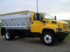 Image result for lime spreader truck