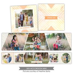 Neutral 3x3 Accordion mini template - E1003