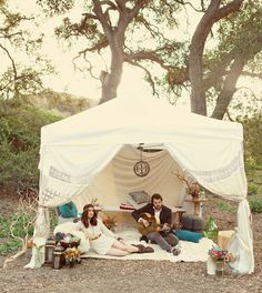 A Bohemian #wedding tent.