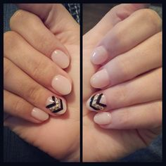 Rounded Acrylics with nail art