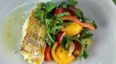 Seared Cod with Watercress Salad