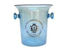 French Blue Ice Bucket Wine Chiller. Vintage Saint Tropez
