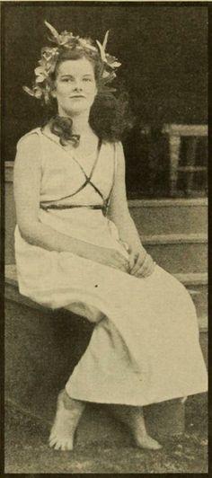 Katharine Hepburn while she was a student at Bryn Mawr