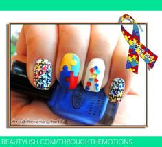 Autism Awareness Nails | Through-the-Motion S.'s (throughthemotions) Photo | Beautylish