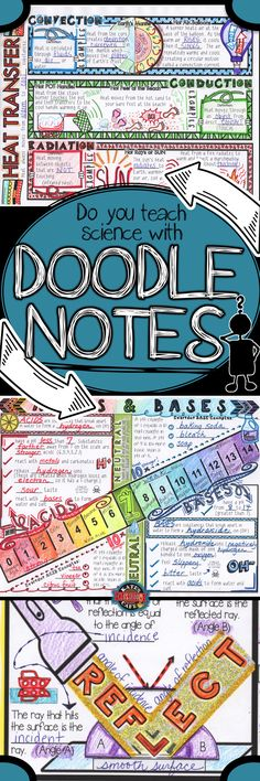 Ideal for middle school or upper elementary science, doodle notes help provide visual triggers that improve focus, memory and learning. It is amazing how students interact with the content through coloring, writing, drawing and embellishing the main ideas.