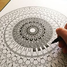Getting there..... #mandala#mandalaart#mandaladesign#zenart#zendala#zendoodle#zentangle#tangle#ink#instaart#instadraw#instaartist#instadoodle#illustration#instadoodles#design#doodle#drawing#doodlingk#doodleart#sketch#graphicart#detail#mandalas#dots#artwork#patterns#penart#flowerart#mandaladrawing#mandalas