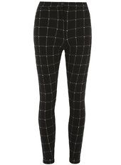 Black Windowpane Treggings
