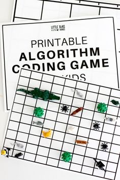 Free printable algorithm coding game for kids that they can change over and over again. Screen free computer coding activity for easy kids STEM activities. Computer Activities For Kids, Coding Apps For Kids, Computer Coding For Kids, Computer Science, Computer Lab, Stem Activities, Worksheets For Kids, Math Worksheets, Science Experiments Kids