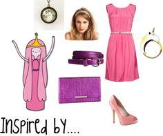"""Princess Bubblegum - Adventure Time"" by thegeekinadress on Polyvore"