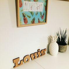 Houten letters in verschillende groottes en diktes #decoratie #geboorte
