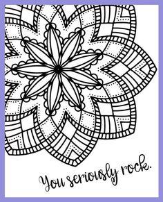 Motivational Mandala Free Coloring Pages (3 Design Options)! dawnnicoledesigns.com