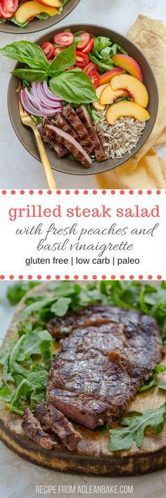 Grilled Steak Salad (gluten free, dairy free, low carb, paleo)