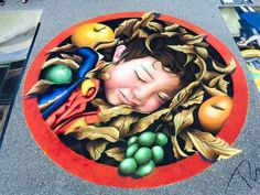 The pavement becomes a playground at the Sarasota Chalk Festival