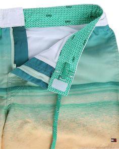 Turquoise Photo Print Swim Shorts TOMMY HILFIGER