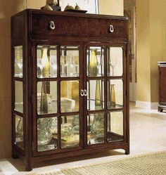 Vintage Antique White Curio Cabinet China Buffet Amp Hutch
