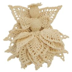 Majestic Pineapple Angel Ornament - A free Crochet pattern from Julie A Bolduc.