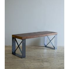 Eckso Bench - by Blake Avenue  Recycled Iron and reclaimed Architectural Timbers